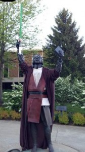 Jedi John Wesley: the statue at Asbury Theological Seminary
