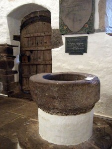 This ancient baptismal font in Wales has been used in infant baptisms since around 1055 AD - nearly a thousand years of infant baptism.