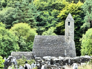 Saint Kevin's Church in Glendalough, County Wicklow.